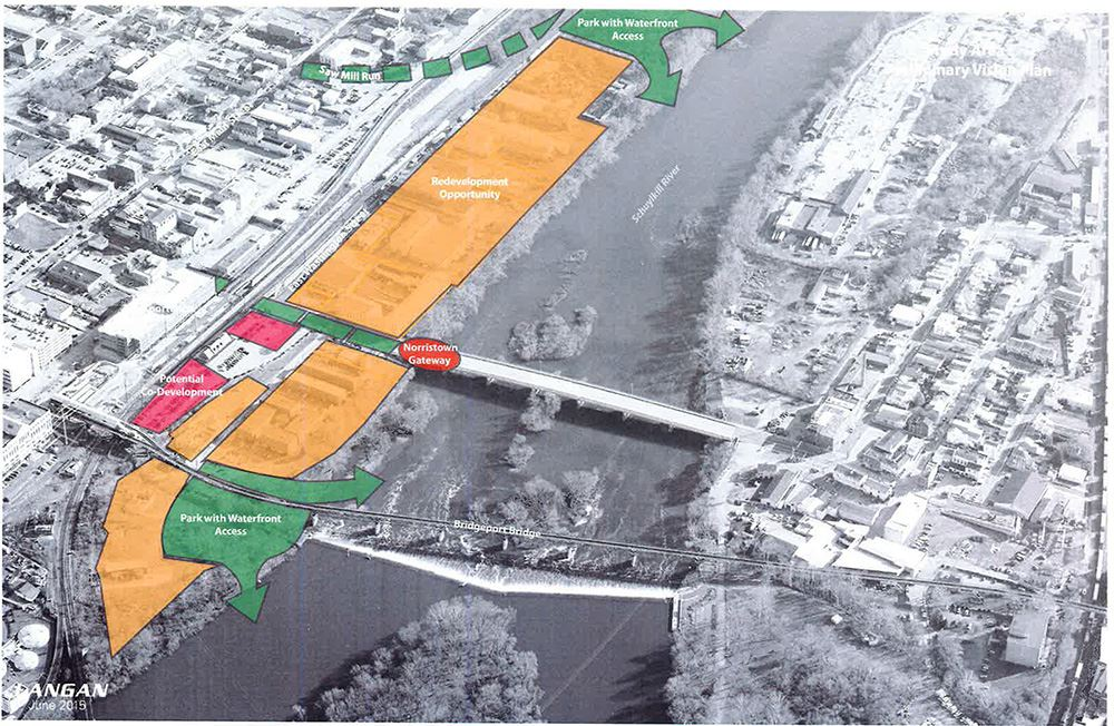 Riverfront Redevelopment Map