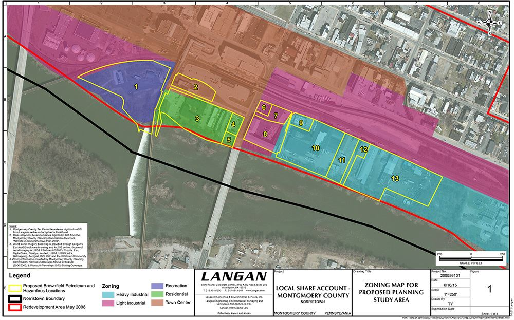 Riverfront Redevelopment Zoning Map