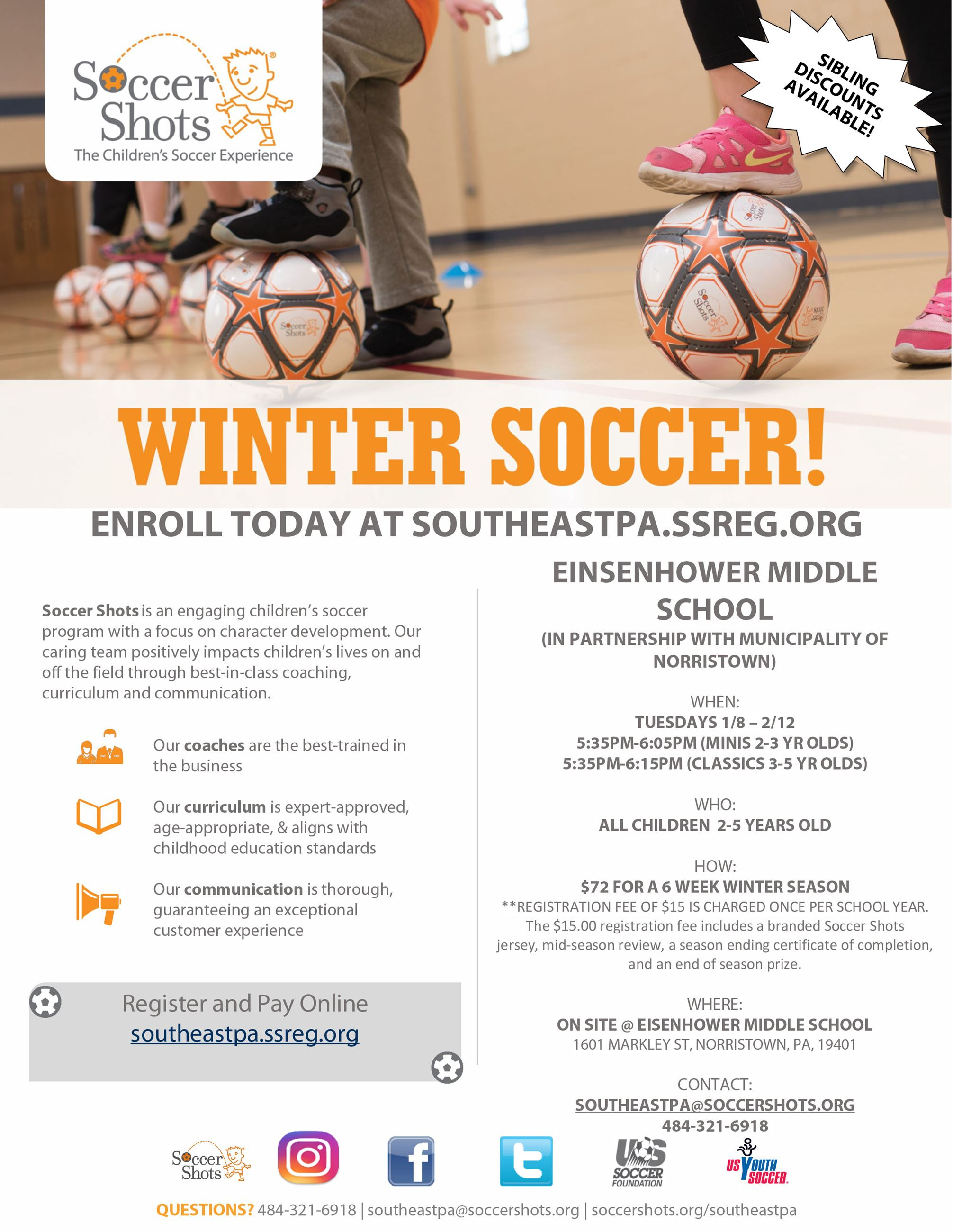 Norristown Rec Indoor Winter Soccer