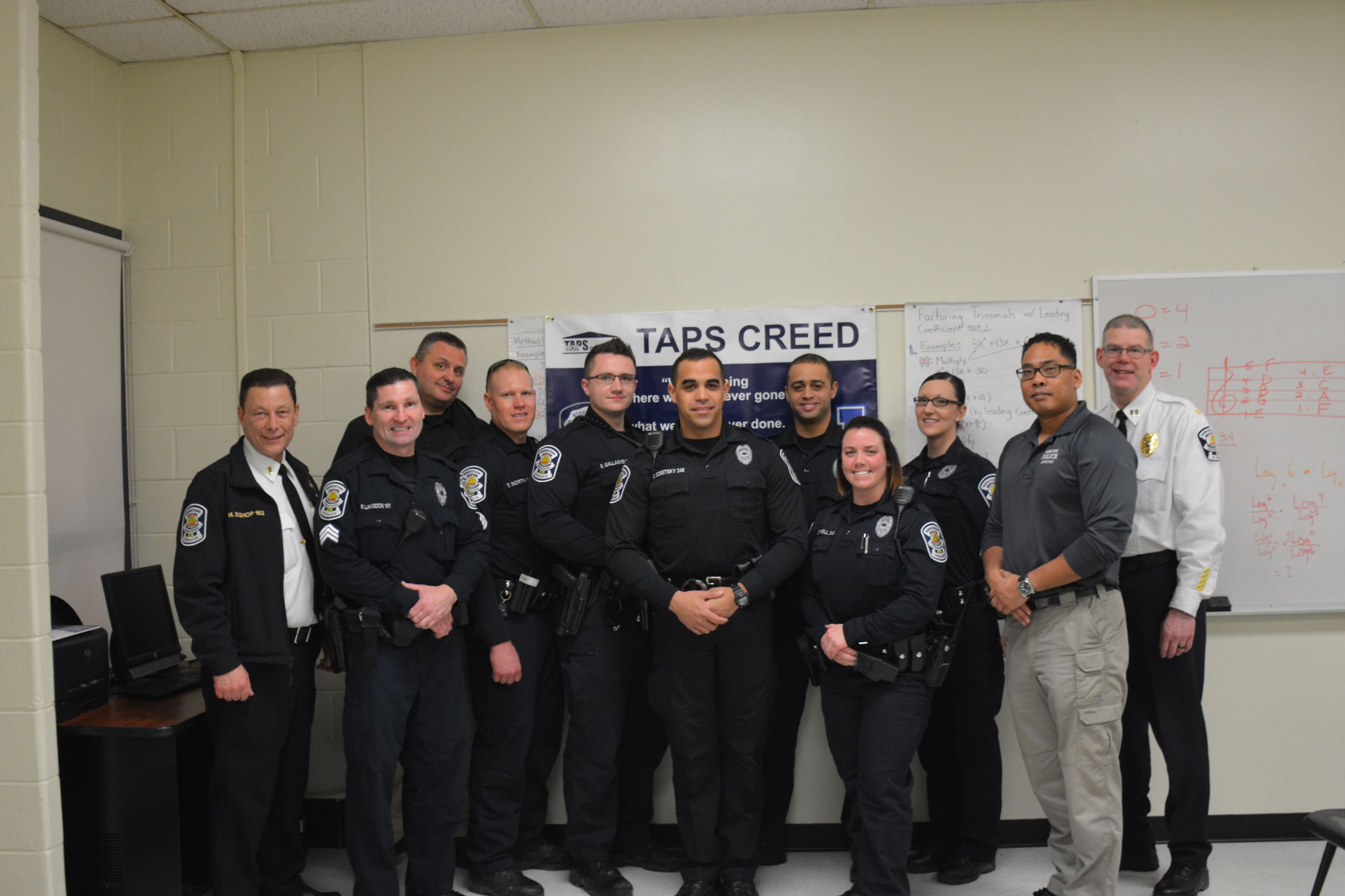 Officers Involved in TAPS Academy