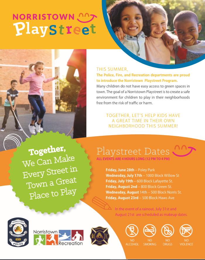 playstreets flyer for event