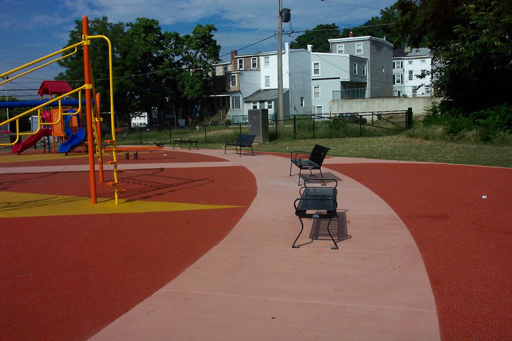 Martun Luther King Jr Park - After - Park Benches and Playground
