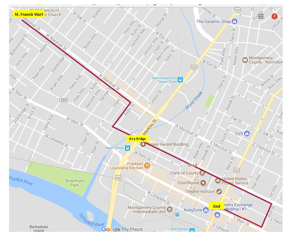 Fourth Parade Route