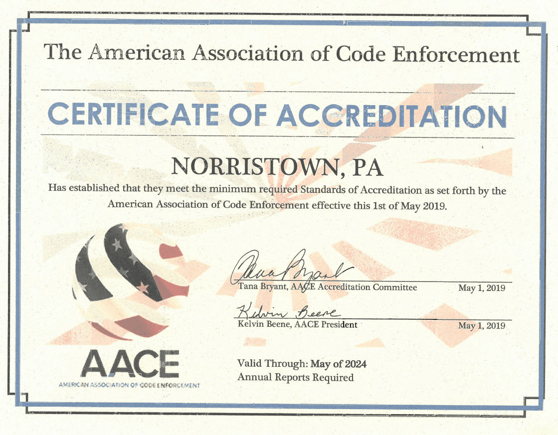 Certificate of Accrediation
