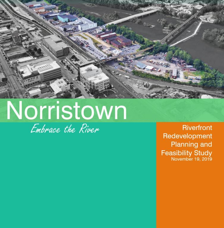 Riverfront Feasibility Study photo in green and orange